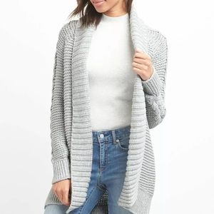 Gap cable knit cardigan grey extra small NWT